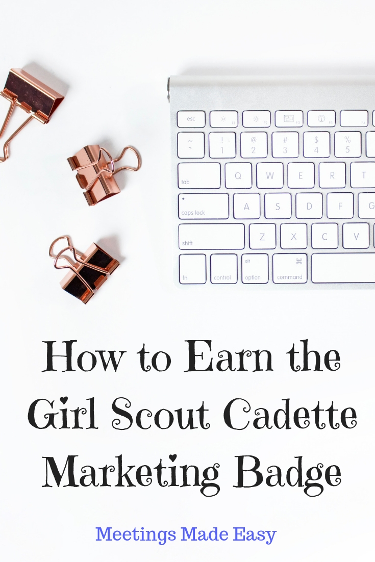 How To Earn The Cadette Marketing Badge Our Second Cadette Meeting