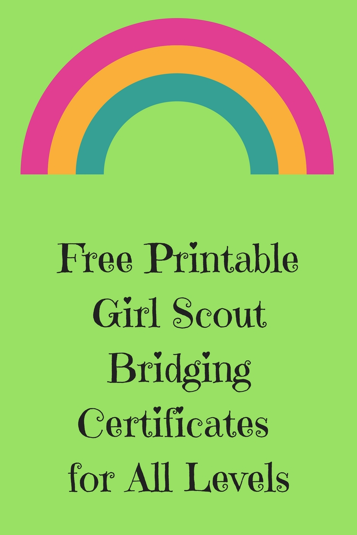 image relating to Girl Scout Certificates Printable Free called Friday Freebie-Absolutely free Printable Woman Scout Bridging
