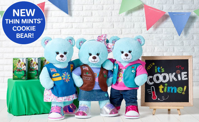 9deac6cf8a3 Girl Scout Themed Party now at Build a Bear! Book your troop trip today!